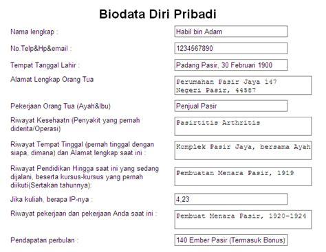 form biodata karyawan lengkap contoh biodata diri pictures contoh brosur makanan dalam