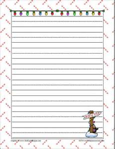 Christmas Writing Paper Templates Christmas Themed Writing Papers