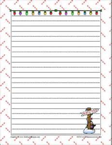 Free Printable Christmas Writing Paper Gallery For Gt Printable Christmas Writing Paper