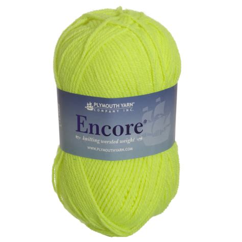 plymouth encore yarn sale plymouth encore worsted yarn 0476 neon yellow at jimmy