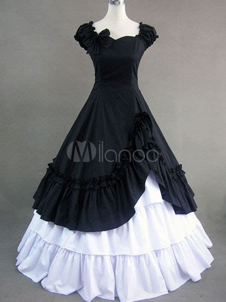 Wst 13602 White Formal Dress black and white cotton formal