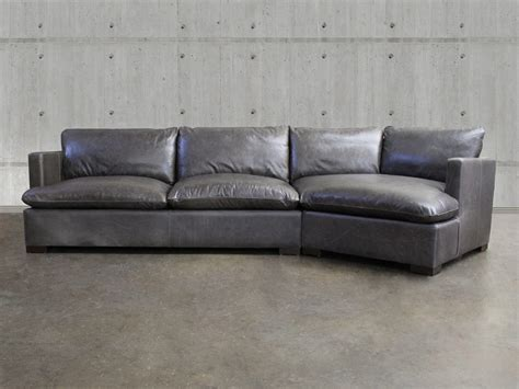 reno leather sectional sofa with cuddler top grain