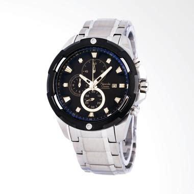 Jam Tangan Pria Ac 6424 Black jual jam tangan pria christie sport