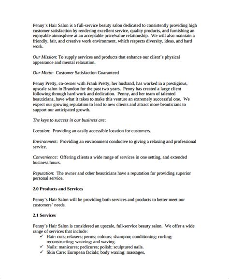 personal business plan template sle personal business plan template 7 free documents