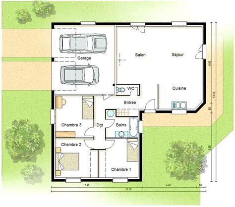 Plan Maison Interieur Plain Pied Chaios plan maison plain pied passive chaios