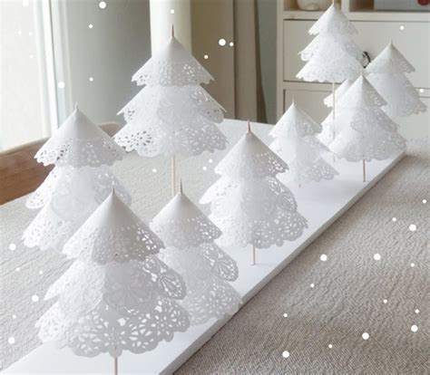 white paper christmas decorstions diy tree decorations the magazine