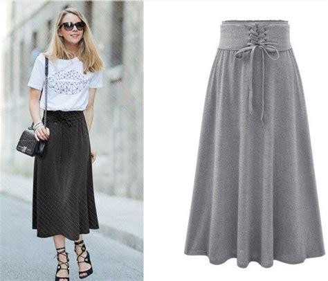 Band Waist Flare Skirt 520 melhores imagens de skirts no lavar as
