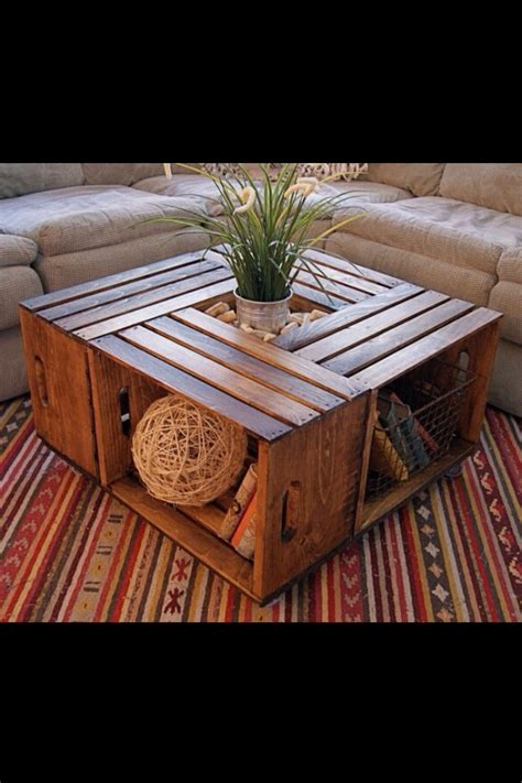 Diy Coffee Table With Crates Fantastic Trusper Diy Crate Coffee Table