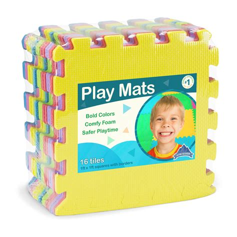 Kid Play Mats Rubber by 34 Foam Play Mats 16 Tiles Borders Puzzle