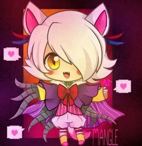 imagenes kawaii five nights at freddy s mangle kawaii d by foxy the pirate fox whi