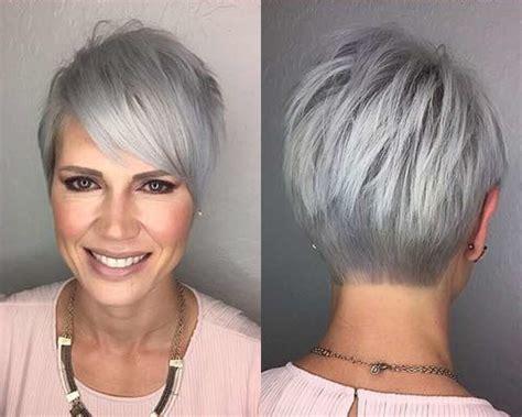 hairstyles 2017 grey hair capelli grigi i tagli corti e lunghi unadonna