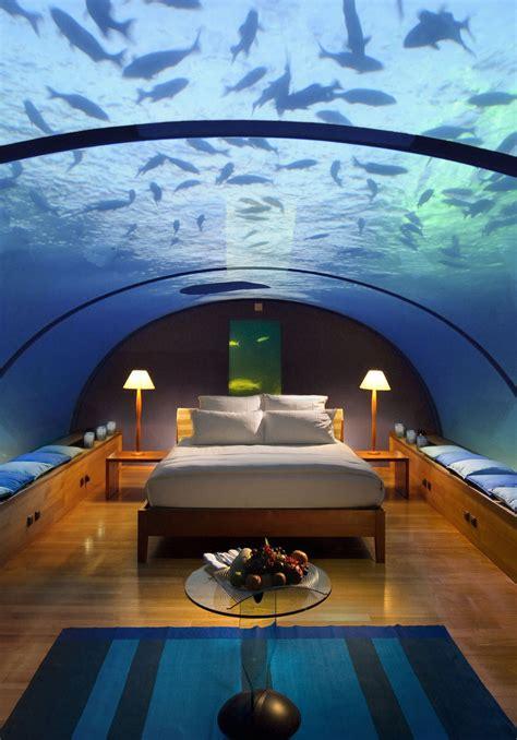 underwater bedroom in maldives first underwater building in world newzar