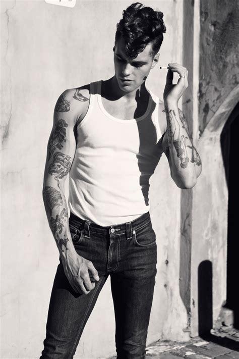 male rockabilly models lewis grant by pat supsiri for male model scene