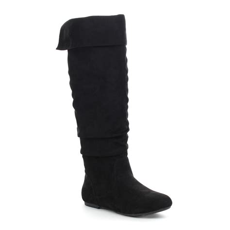 da viccino s slouch zip flat fold cuff knee high
