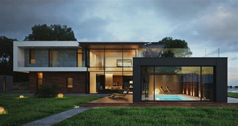 modern box house modern home exteriors with stunning outdoor spaces