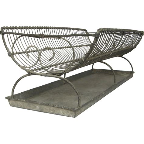 dish drainer and tray xl antique wire dish drainer with zinc tray dish