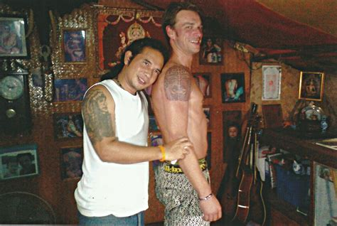 tribal thong tattoo tribal on shoulder big magic koh phangan