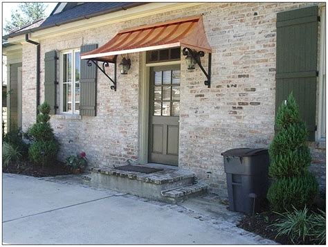 Door Awning Ideas by Metal Roof Awning Copper Front Door Awning Front Door