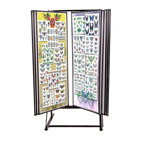 tattoo flash rack large tattoo art stand jumbo flash rack flip through