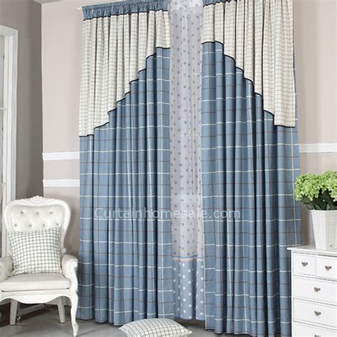 blue and white plaid curtains blue and white plaid modern longer length ready made
