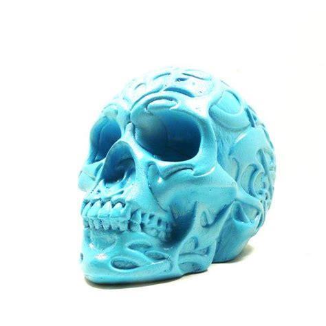 sugar skulls home decor plaster skull sculpture tribal home decor skull art