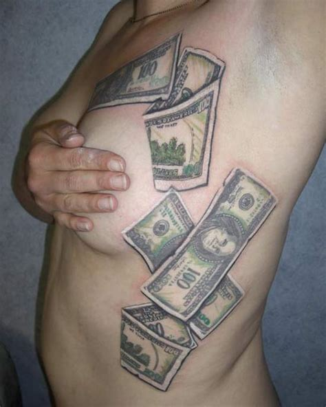 Tattoo Money Aufkleber by 100 Dollar Bill Rose Tattoo Car Tuning