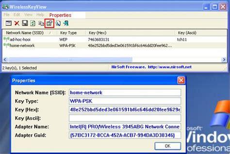 free wireless key finder wirelesskeyview