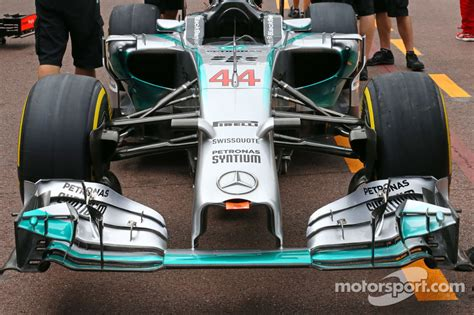 Mercedes AMG F1 W05 front wing at Monaco GP