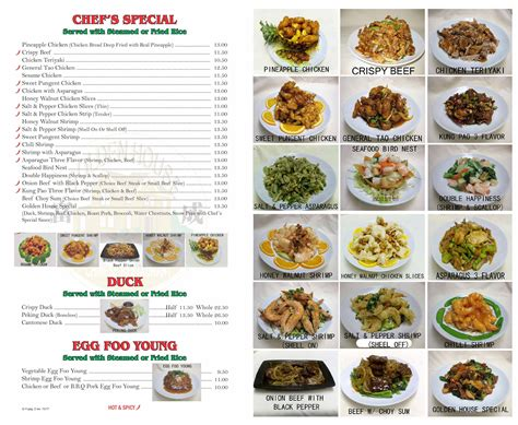 Golden House Food by Golden House Food Menu Trays