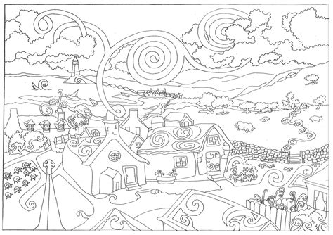 coloring page world in the country