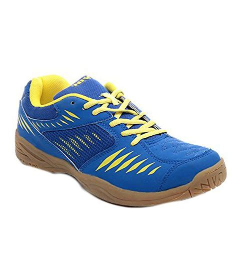 nivia sports shoes nivia blue synthetic leather new court gumsole sport