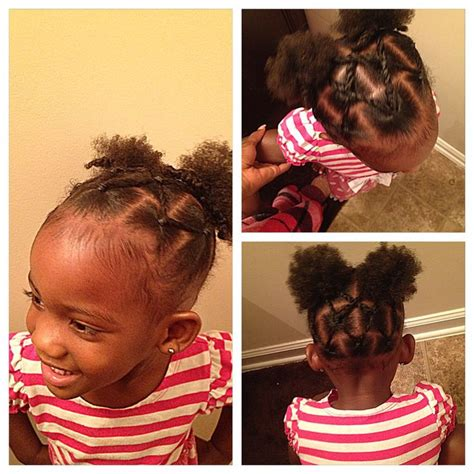 hairstyle ideas for black toddlers rope twists into two puff balls little girls braid