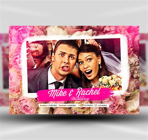 photo booth psd template wedding photobooth design template flyerheroes