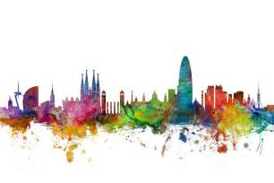 Paint By Number Wall Mural barcelona skyline wall mural amp photo wallpaper photowall
