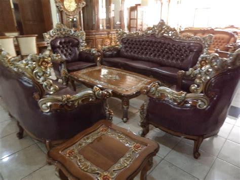Kursi Sofa Jati kursi sofa ukir barcelona warna emas naula jati furniture
