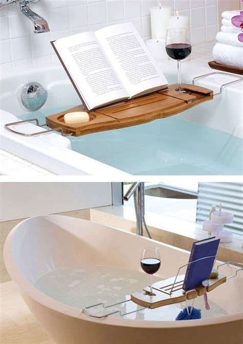 bathtub caddy tray bamboo bathtub caddy tray with adjustable holder bathroom