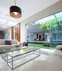 garden living room interior courtyard garden home modern house designs