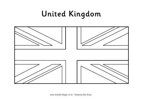 free coloring pages of england flag outline united kingdom flag colouring page