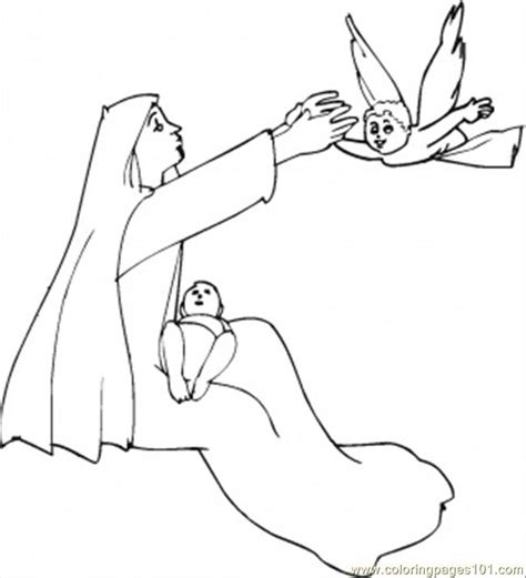 coloring page of angel visiting mary coloring pages angel visits mary other gt religions