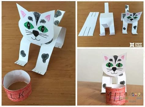 Cat Paper Craft - paper cat craft 171 funnycrafts