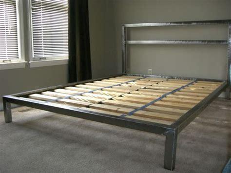 custom  welded platform bed custom platform beds