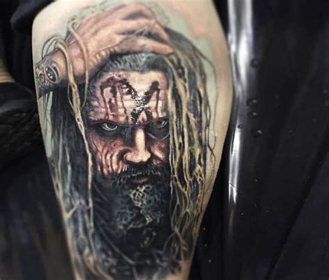 rob zombie tattoos rob portrait by paul acker no 2566