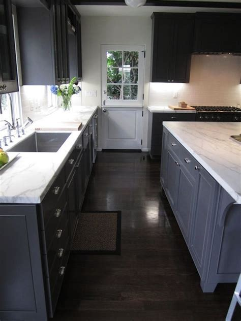gray floors with hickory cabinets image result for kitchen gray floor walnut cabinets