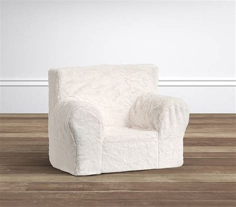 Pottery Barn Anywhere Chairs by Ivory Faux Fur Anywhere Chair 174 Pottery Barn