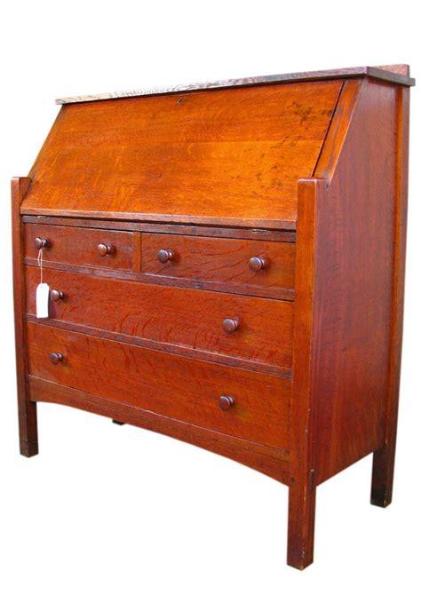 Superb Antique L Jg Stickley Large Drop Front Desk Mission Stickley Desk