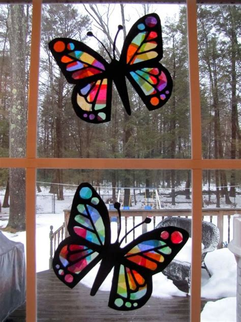 Paper Stained Glass Craft - pin by kristi polston on s day