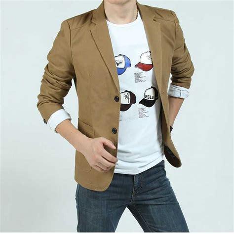 merek baru pria jaket katun kasual denim jaket pria slim