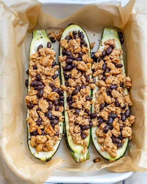 easy zucchini taco boats turkey taco zucchini boats are perfect for festive clean