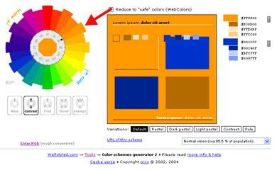 complementary color generator colour theory w3c wiki