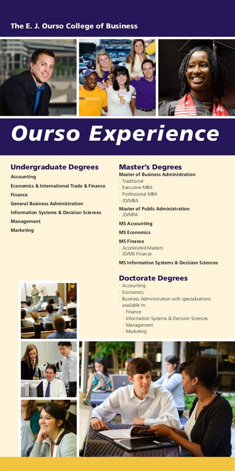 Lsu Mba Requirements by The Lsu E J Ourso College Of Business School Overview